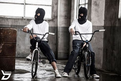 Ski masks, which are used often for armed robbery, are also featured in the video for 'Tough Cookie.'