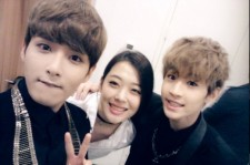 Super Junior Ryeowook, f(x) Sulli, and Henry Selca at the SM Concert