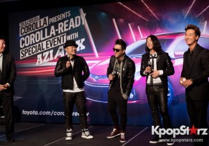 Aziatix unveils the new 2014 Corolla at Toyota's Corolla-Ready event in LA with the premiere of their
