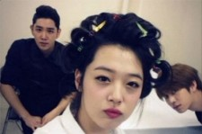 f(x) sulli perm picture with heechul and kangin