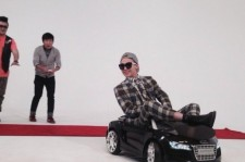 G-Dragon Shows Up in a Fashionable Car on the Set of 'Weekly Idol'… Jung Hyung Don Looks Worried