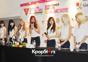 Multi-talented Korean Girl Group AOA Greets The Media At Sundown Festival 2013 Press Conference In Singapore, Confidently Admits They Are All Angelic! [PHOTOS]