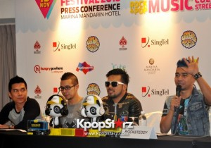 Asia's Musical Talent Nidji, Rock Steddy, Screw Gather And Share Their Love For Music At Sundown Festival 2013 Press Conference In Singapore [PHOTOS]