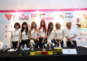 K-pop Girl Group AOA Joins Nine Other Asia's Musical Talent At Sundown Festival 2013 In Singapore [PHOTOS]