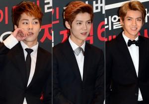 Xiumin, Lu Han, Kris