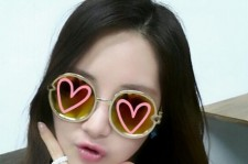 seohyun hearts on glasses
