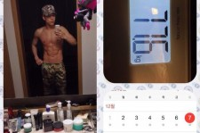 2am changmin shirltess body and abs