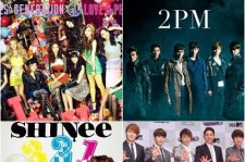 2PM-Super Junior-SHINee Rank in the 'Top 3' on Japan Oricon Chart