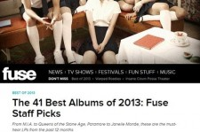 f(x) Ranked on U.S. Fuse '41 Best Albums of 2013' Staff Picks