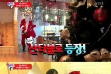 tablo dressed up as santa
