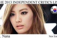 After School Nana Ranks Number 2 on The Independent Critics List '100 Most Beautiful Faces of 2013'