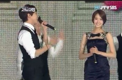 Yoona & Lee Seung Gikey=>12 count13