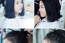 dohee filming for commercial
