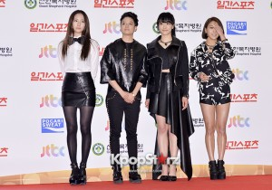 f(x)'s Krystal, SUlli, Victoria, Amber and Luna at the 28th Golden Disk Awards