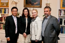 Lee Soo Man of SM Attends Special Screening Hosted by Hillary Clinton