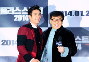 Super Junior Siwon at Jackie Chan's Red Carpet Movie Premiere of Police Story