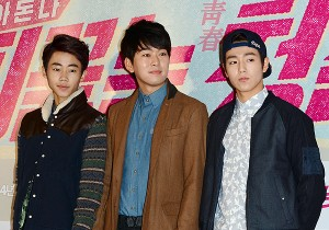 Park Ji Bin, Kwak Jung Wook and Lee Hyun Woo at the VIP Premiere of Upcoming Film 'Blood Boiling Youth'