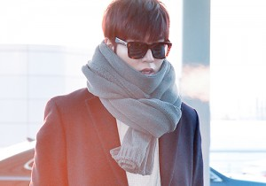 Lee Min Ho at Incheon Internation Airport Heading to China for CCTV Spring Festival