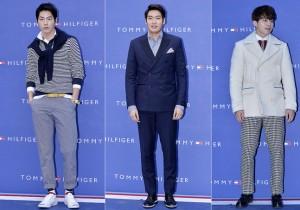 Hong Jong Hyun, Jung Gyu Woon and Lee Dong Woo at Tommy Hilfiger for Grand Opening