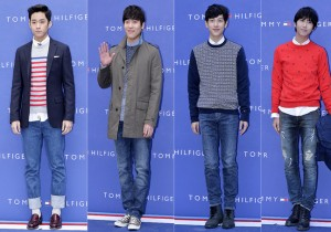 F.T. Island's Lee Jae Jin, John Park, ZE:A's Yim Si Wan and Hwang Kwang Hee at Tommy Hilfiger for Grand Opening Event