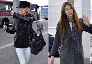 Miss A's Min and Suzy at Incheon International Airport Departing to Hong Kong