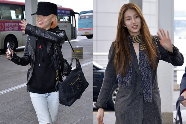 Miss A's Min and Suzy at Incheon International Airport Departing to Hong Kongkey=>0 count21
