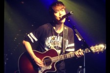 Jung Yong Hwa during the 'Blue Moon Tour'  New York City Best Buy Theater performance.