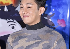 Yoo Ah In Attended a Press Conference of Upcoming Film 'The Satellite Girl And Milk Cow'