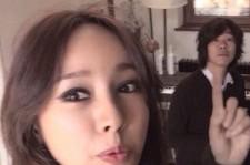 lee hyori self-camera with lee sang soon