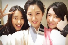 seohyun picture with bora and tiffany