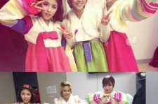 tiny g dohee new years picture with members