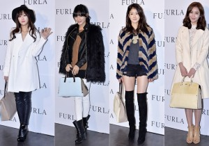 Han Yoo Yi, Kim Jae Kyung, Lee Si Young and Lee So Yeon Attend FURLA 2014 S/S Launching Event - Feb 6, 2014 [PHOTOS]