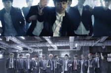 The members of BTS pull off an edgier look than EXO.