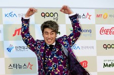 San E Attends The 3rd Gaon Chart KPOP Awards - Feb 12, 2014 [PHOTOS]