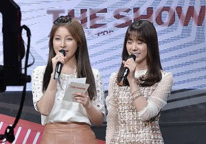 MC Gyuri & Seungyeon at SBS MTV The Show : All about K-POP - Feb 18, 2014 [PHOTOS]