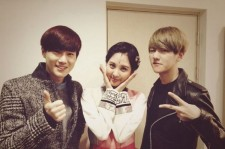 exo visits seohyun for musical