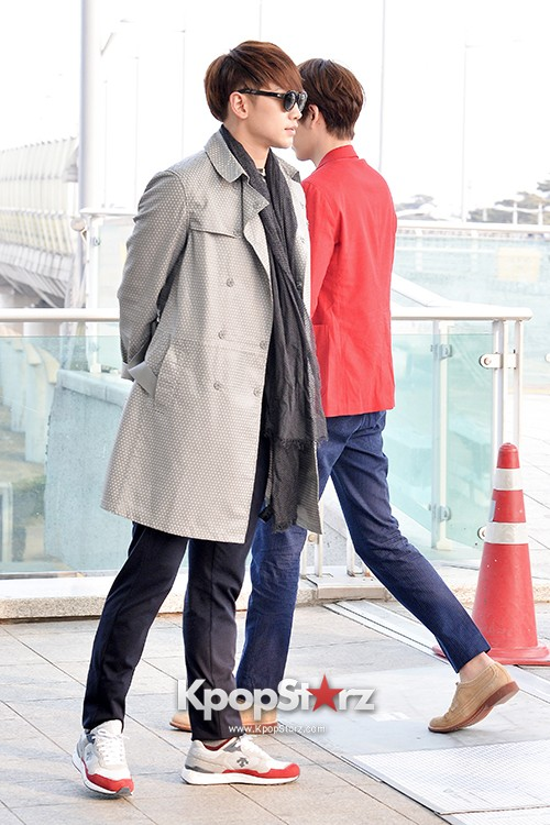 Kim Woo Bin and Rain at Incheon International Airport for Running Man in Australia - Feb 22, 2014 [PHOTOS]key=>15 count23