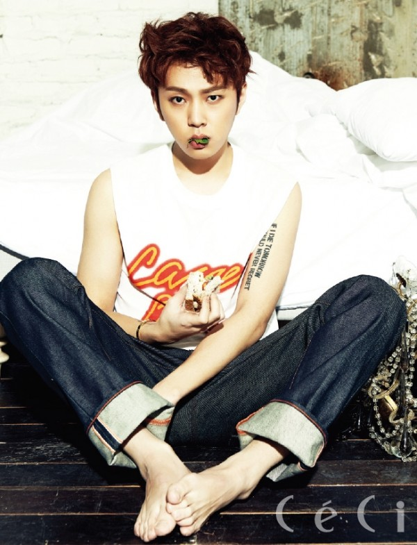 BEAST's Yong Jun Hyung - Ceci Magazine March Issus 2014key=>0 count7