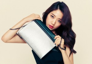 Park Shin Hye Models Bruno Magli's 2014 S/S Disney Purse Collection
