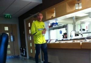 Idol Fashion on a Soccer Player?