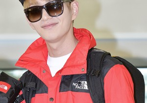 Shinhwa's Lee Min Woo and SHINee's Onew at ICN Airport to Film 'Law of The Jungle in Brazil'