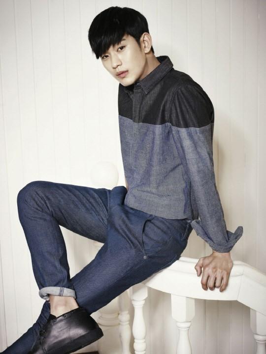 kim soo hyun denim photo shoot