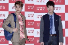 Kim Ji Hoon and Uhm Ki Joon Attend Samsonite 2014 S/S 'Be My Red' Event