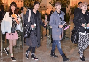 Juniel, Lee Dong Gun, N.Flying and Sone Eun Yi at Gimpo Airport Heading to Japan for FNC Kingdom Concert