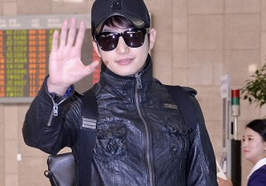 Park Si Hoo at Gimpo Airport Heading to Xinjiang, China for the Spring International Auto Show
