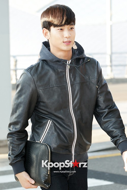 Kim Soo Hyun at Incheon Airport Heading to Taiwan for 1st Fan Meeting key=>3 count5