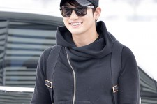 Park Si Hoo at Incheon International Airport Heading to Beijing