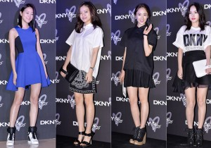 Kang Seung Hyun, Go Ah Sung, Kim Min Jung and Min Hyo Rin Attend DKNY 25th Anniversary Fashion Show - March 27, 2014 [PHOTOS]