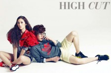 f(x)'s Krystal and Lee Jong Suk Reunite for 'High Cut' [PHOTOS]
