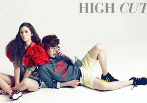 f(x)'s Krystal and Lee Jong Suk Reunite for 'High Cut' [PHOTOS]